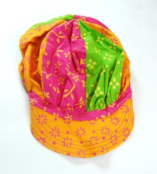 Childrens Cap Patchwork Floral