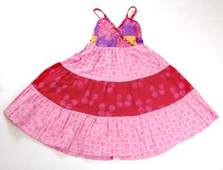 Childrens Dress Patchwork Pink