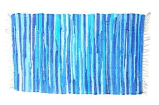 Rug Rag Style Blue 60X90cm*BUY 6PCS FOR £2.50 EACH