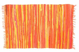 Rug Rag Style Orange 60X90cm*BUY 6PCS FOR £2.50 EACH