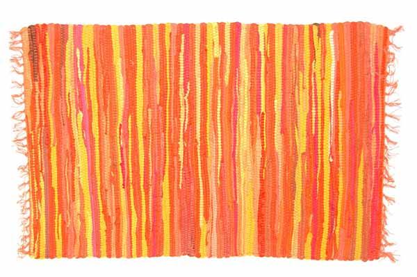 Rug Rag Style Orange 60X90cm*BUY 6PCS FOR £2.50 EACH