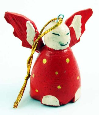 Angel Decoration Red Wooden