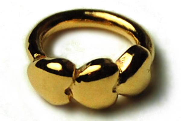 Tragus Heart Gold Colour