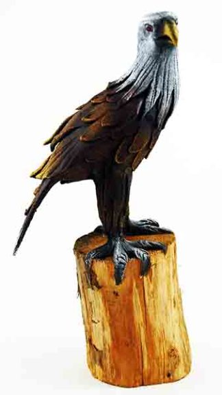 Eagle Painted Wooden 10 Inch (H)