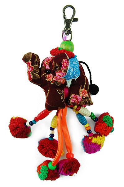 Keyring Elephant With Beads