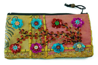 Purse Ethnic Sequined Flowers