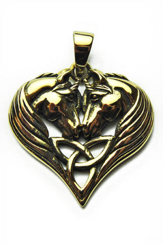 Bronze Pendant Unicorn Heart
