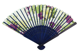 Fan Blue Bamboo