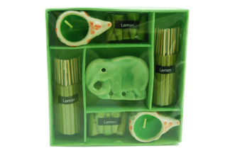 Incense And Cone Gift Set Lemon