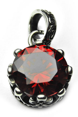 Pendant Stainless Steel Red