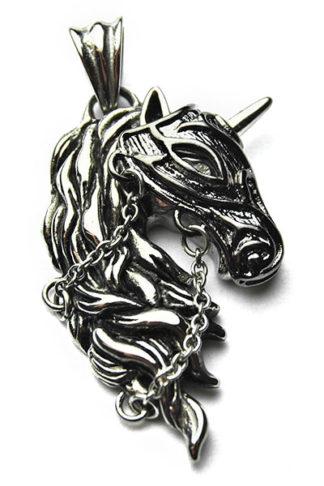 Pendant Stainless Steel Horse