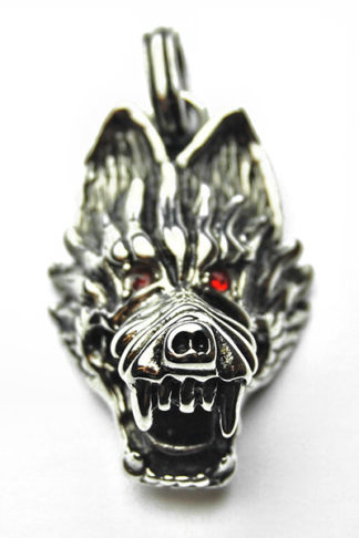 Pendant Stainless Steel Wolf