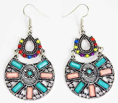 Earring Pewter Tribal Style 1