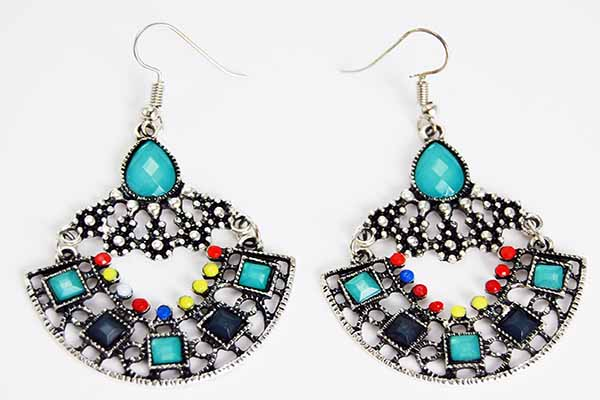 Earring Pewter Tribal Style 2
