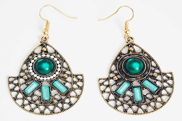 Earring Pewter Tribal Style 3