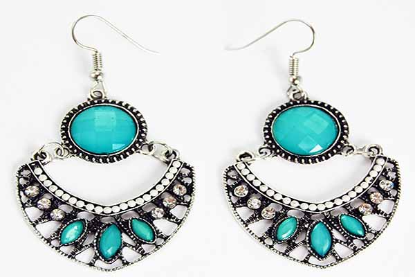 Earring Pewter Tribal Style 4