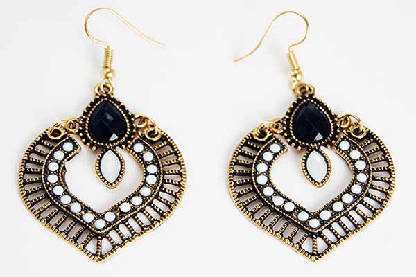 Earring Pewter Tribal Style 5