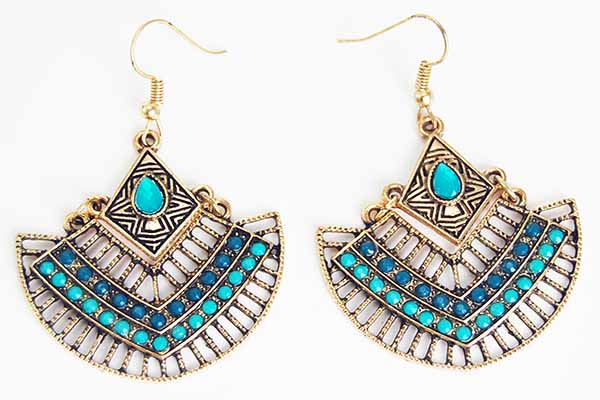 Earring Pewter Tribal Style 6