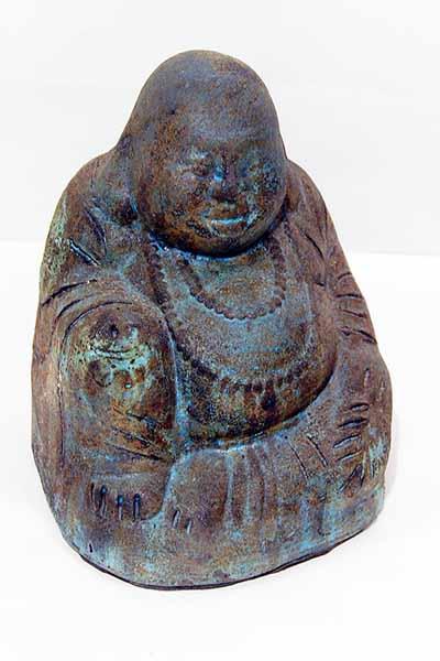 Ceramic Garden Happy Buddha