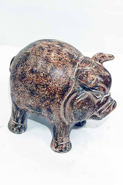 Ceramic Garden Pig Small