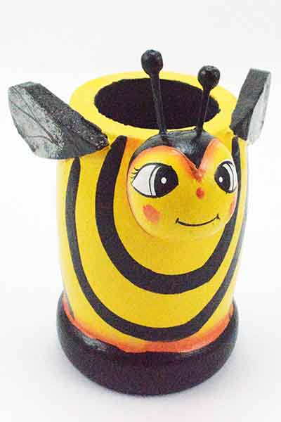 Bee Wooden Holder For Pens