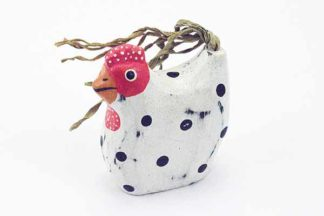 Chicken Wooden White H8cm