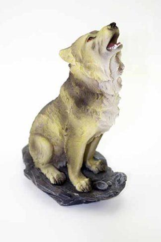 Wolf Howling 13.5X8.8X20cm