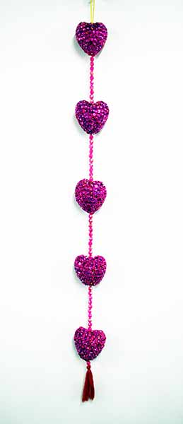 Mobile Heart With Sequins