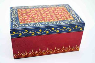 Box Wooden Painted Floral
