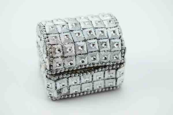 Box Chest Silver 4.5X5.5cm