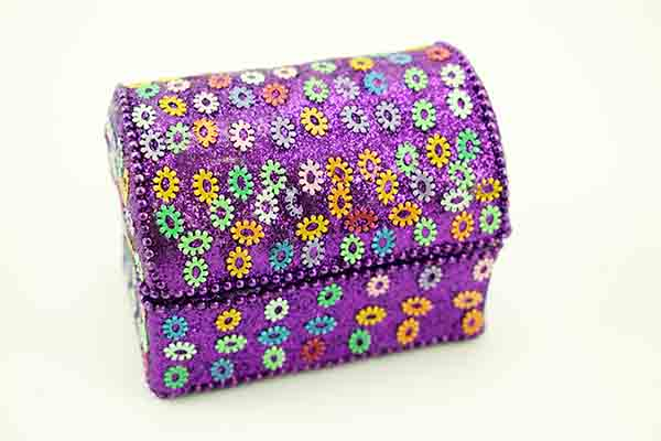Box Chest Purple 5.5X7cm