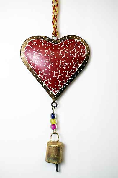 Decoration Iron Heart Red