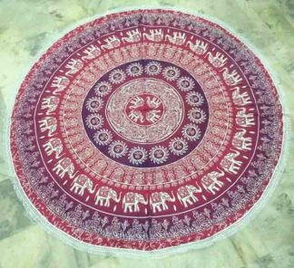 Mandala Tapestry Maroon