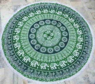 Mandala Tapestry Green