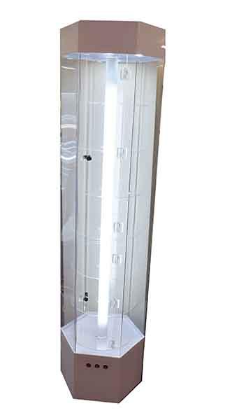 Display Cabinet Hexagonal LED