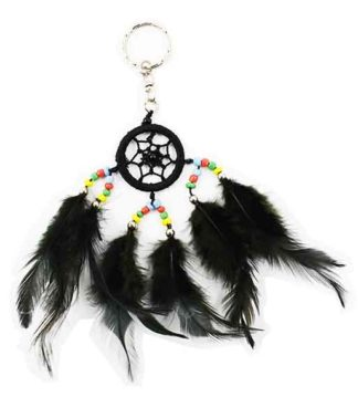 Dream Catcher Keyring Black