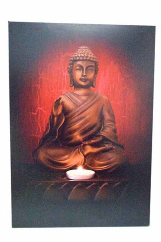Frame Canvas Buddha With LED