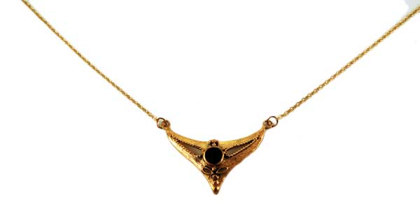 Bronze Necklace Onyx 18 Inch