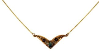 Bronze Necklace Abalone 18 Inch