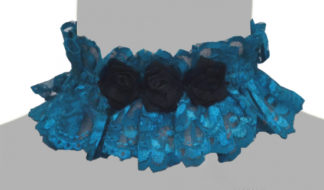Choker lace flower in Turquoise
