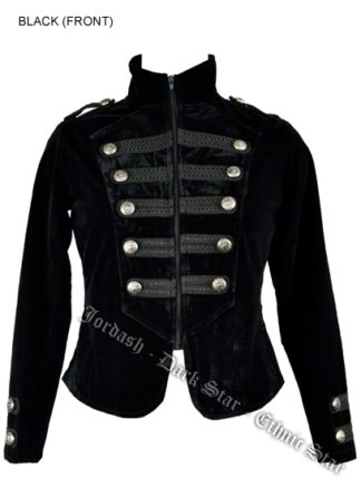 Coat Tail Velvet Black Size14+