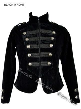 Coat Tail Velvet Black Size18+