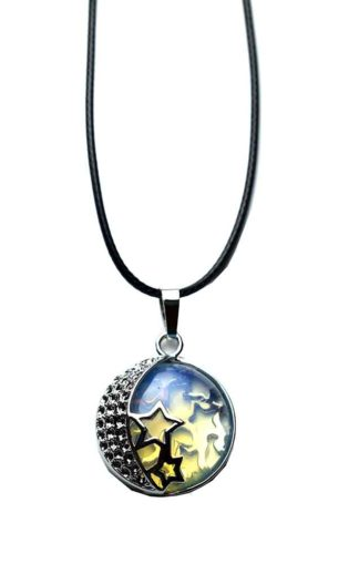 Pendant Moon And Stars Opalite