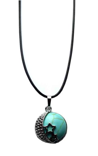 Pendant Moon And Stars Turquoise