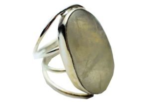 Silver Ring Oval Rainbow