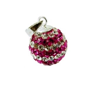 Pendant Silver Ball 12mm Rose *2 For 1*