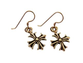 Earring Bronze Fancy Cross