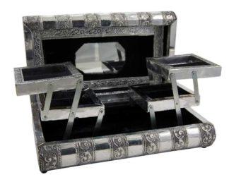 Box Jewellery Metal Black 11X6 Inch