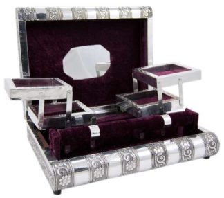 Box Jewellery Metal Purple 11X8 Inch