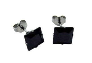 Earring Stainless Steel Black
